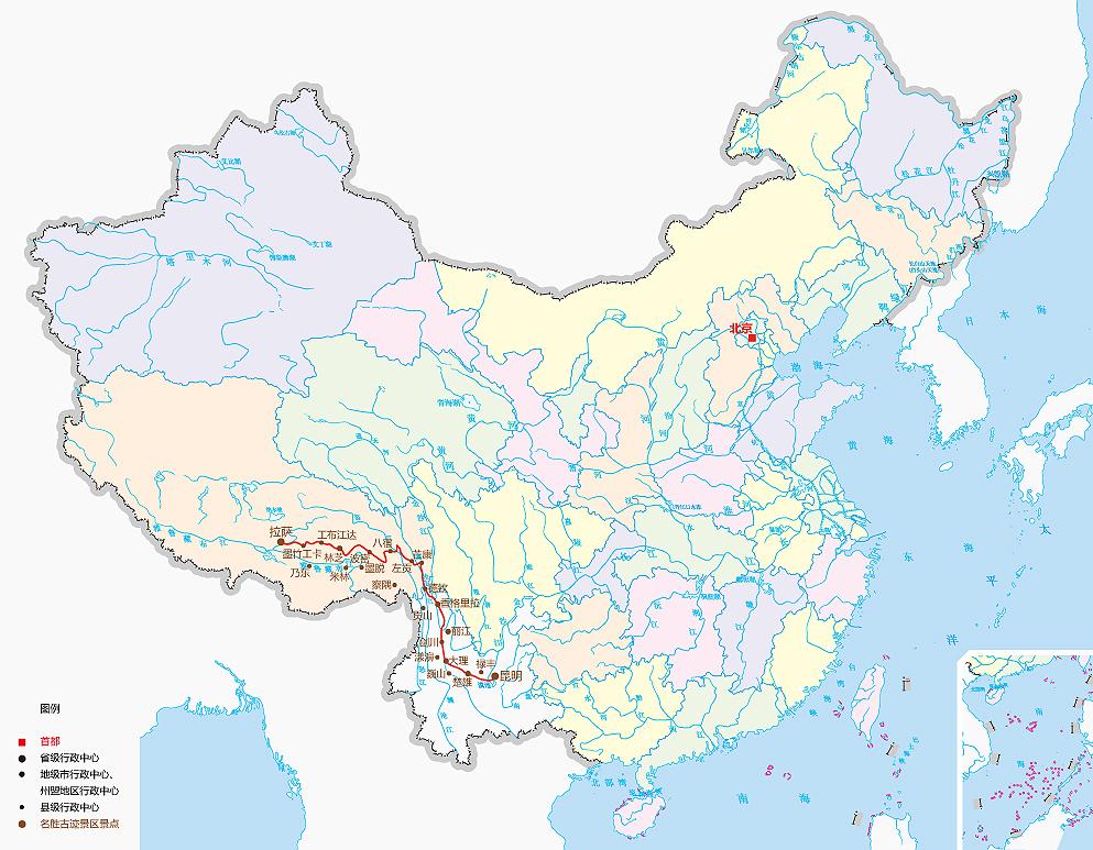 陕西无海西地图